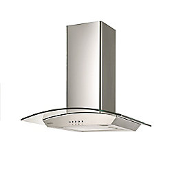 Ancona GCDH 430 Wall mounted glass canopy style Range hood in Stainless Steel