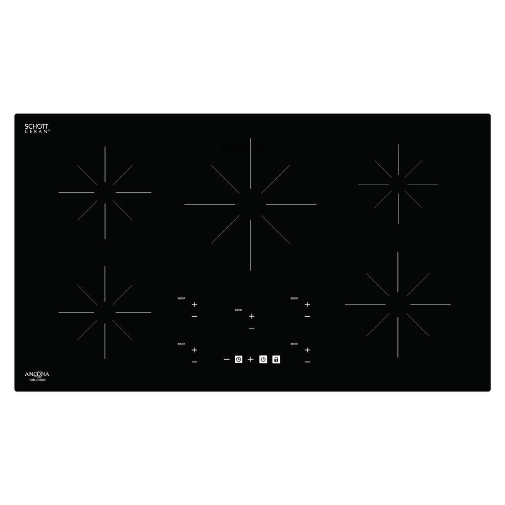 Ancona Chef 36 inch Glass-Ceramic Induction Cooktop