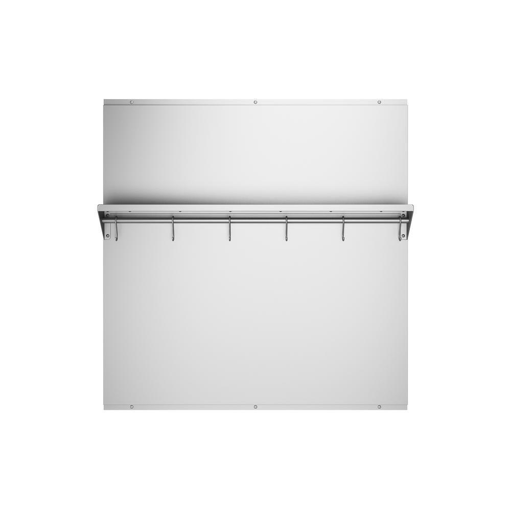 Ancona 30 inch x 30.75 inch Stainless Steel Backsplash with Stainless Steel Shelf