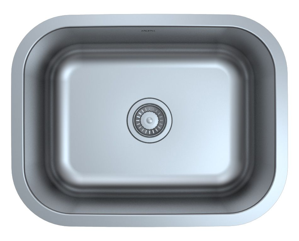 Ancona Capri Series Undermount Stainless Steel 23 inch Single Bowl Kitchen Sink in Satin Finish