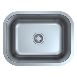 Ancona Capri Series Undermount Stainless Steel 23 inch Single Bowl Kitchen Sink in Satin Finish