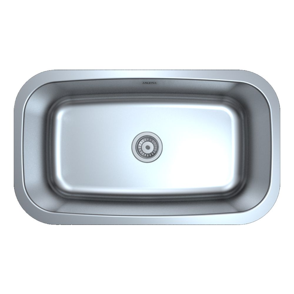 Ancona Capri Series Undermount Stainless Steel 31.5 inch Single Bowl Kitchen Sink in Satin Finish
