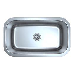 Ancona Capri Series Undermount Stainless Steel 31.5 inch Single Bowl Kitchen Sink in Satin Finish