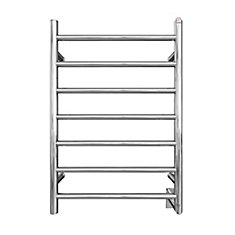 Comfort 7-31 inch Hardwired Electric Towel Warmer and Drying Rack in Chrome