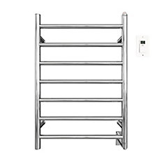 Comfort 7/31 inch Hardwired Electric Towel Warmer and Drying Rack in Chrome with Timer