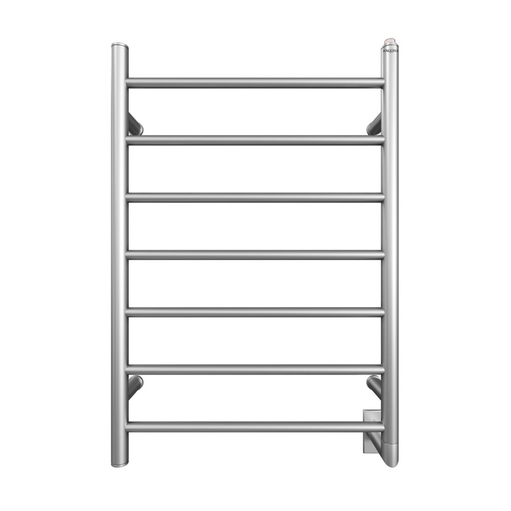 Ancona Comfort 7 Wall Hardwire Electric Towel Warmer and Drying Rack in Brushed Stainless Steel