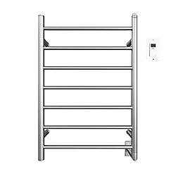 Ancona Comfort 7-31 inch Hardwired Electric Towel Warmer in Brushed Stainless Steel with Timer