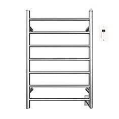 Comfort 7-31 inch Hardwired Electric Towel Warmer in Brushed Stainless Steel with Timer