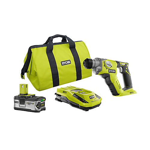 18V ONE+ Lithium-Ion 1/2 inch Rotary Hammer Drill Kit with 4.0Ah Battery, Charger and Bag