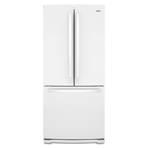 30-inch W 19.7 cu. ft. French Door Refrigerator in White - ENERGY STAR®