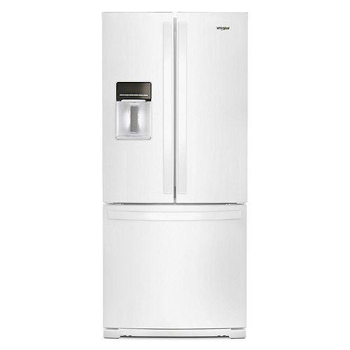 30-inch W 20 cu.ft  French Door Refrigerator in White