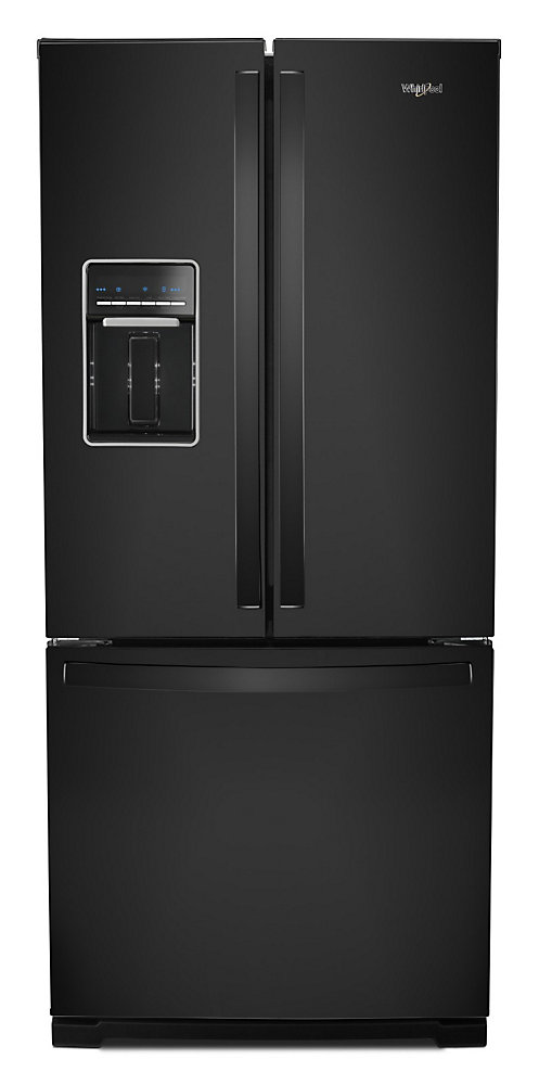 30-inch W 20 cu.ft  French Door Refrigerator in Black