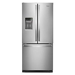 30-inch W 20 cu.ft  French Door Refrigerator in Fingerprint Resistant Stainless Steel