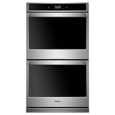 10.0 cu. ft. Smart Double Electric Wall Oven with True Convection in Stainless Steel