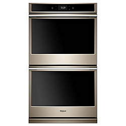 30-inch 10 cu. ft. Smart Double Electric Wall Oven with Convection in Fingerprint Resistant Sunset Bronze