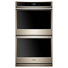 10.0 cu. ft. Smart Double Electric Wall Oven with True Convection Cooking in Sunset Bronze