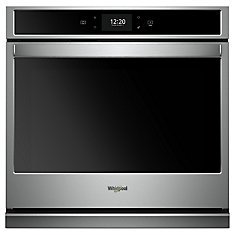 5.0 cu. ft. Smart Single Electric Wall Oven Self-Cleaning with True Convection in Stainless Steel