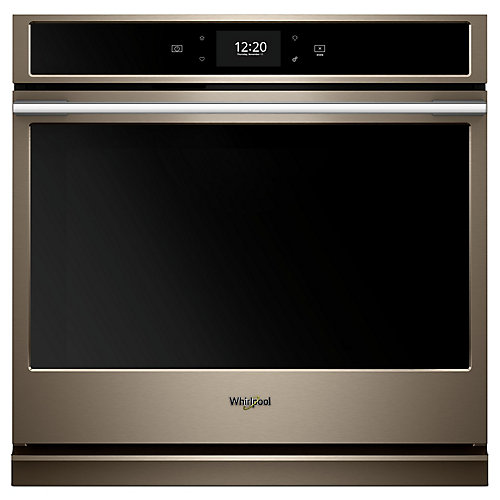 5.0 cu. ft. Smart Single Electric Wall Oven with True Convection Cooking in Sunset Bronze