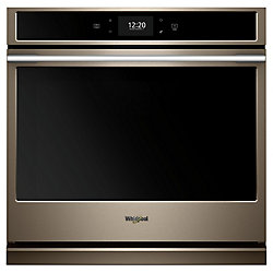 30-inch 5.0 cu. ft. Smart Single Electric Wall Oven with Convection in Fingerprint Resistant Sunset Bronze
