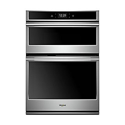Whirlpool 30-inch 6.4 cu. ft. Smart Double Electric Wall Oven & Microwave in Fingerprint Resistant Stainless Steel