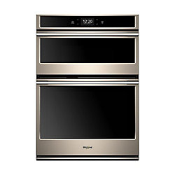 30-inch 6.4 cu. ft. Smart Double Electric Wall Oven & Microwave in Fingerprint Resistant Sunset Bronze