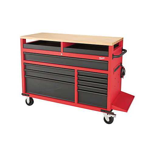 52 inch. 11-Drawer Mobile Work Center