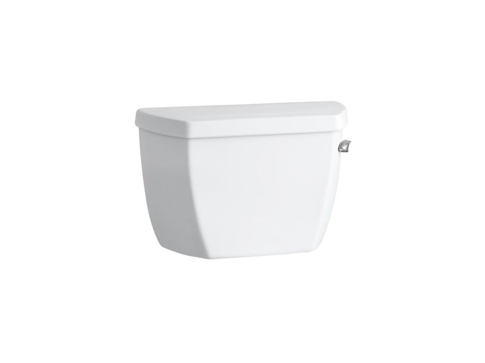 KOHLER Highline Classic 1.0 Gpf Toilet Tank With Tank Cover Locks And Right-Hand Trip Lever In White