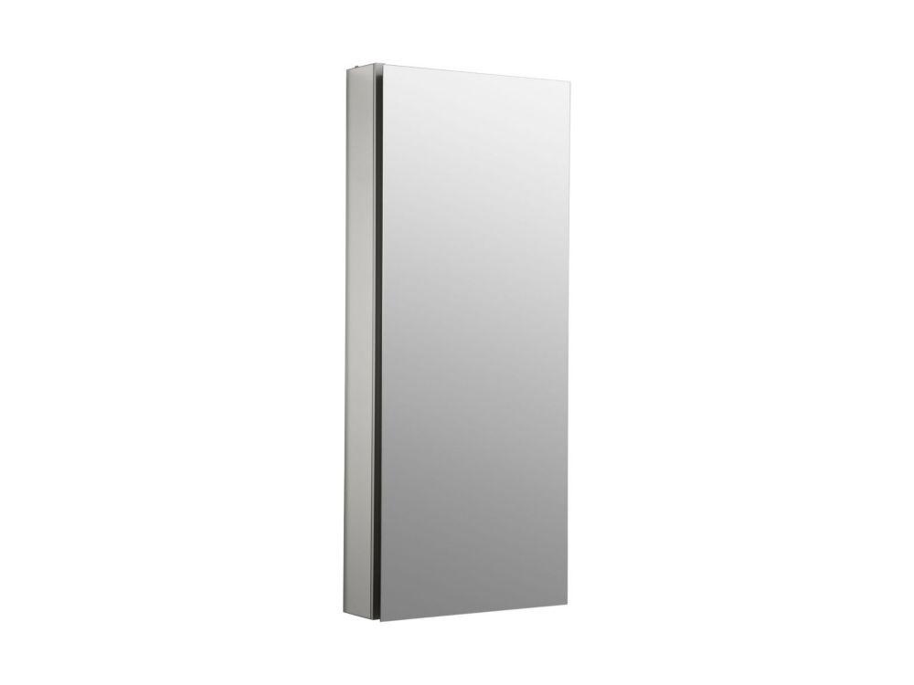 Catalan 15 inch W X 36  inch H Aluminum Single-Door Recessed or Surface Mount Medicine Cabinet
