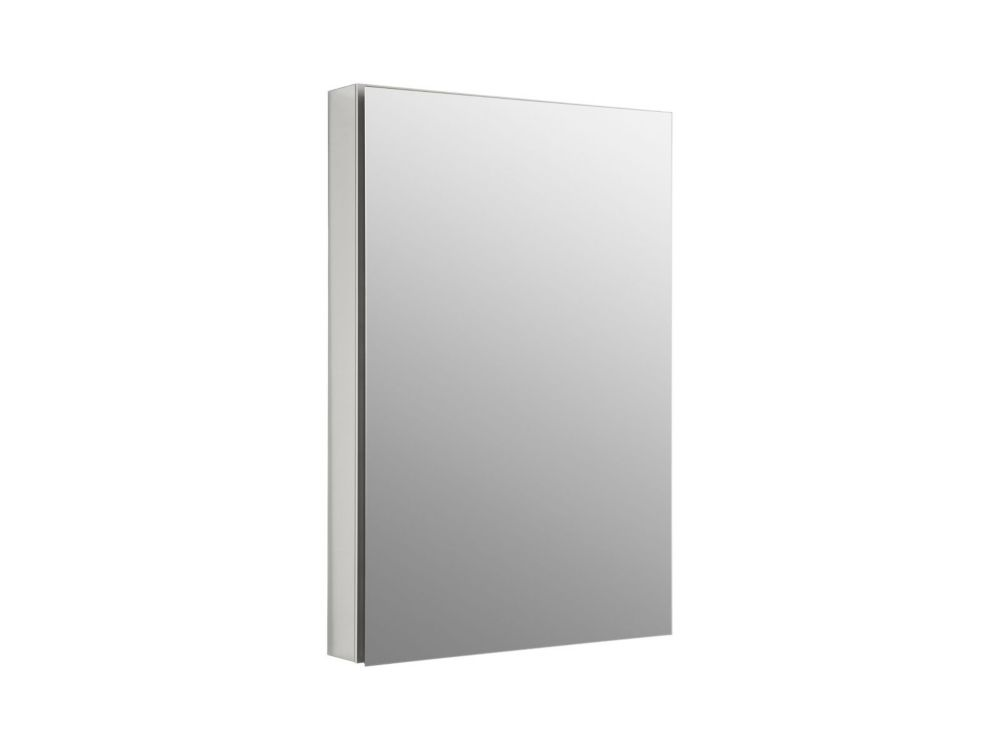 Catalan 24.125 inch X 36  inch Recessed or Surface Mount Medicine Cabinet In Satin Anodized Aluminum