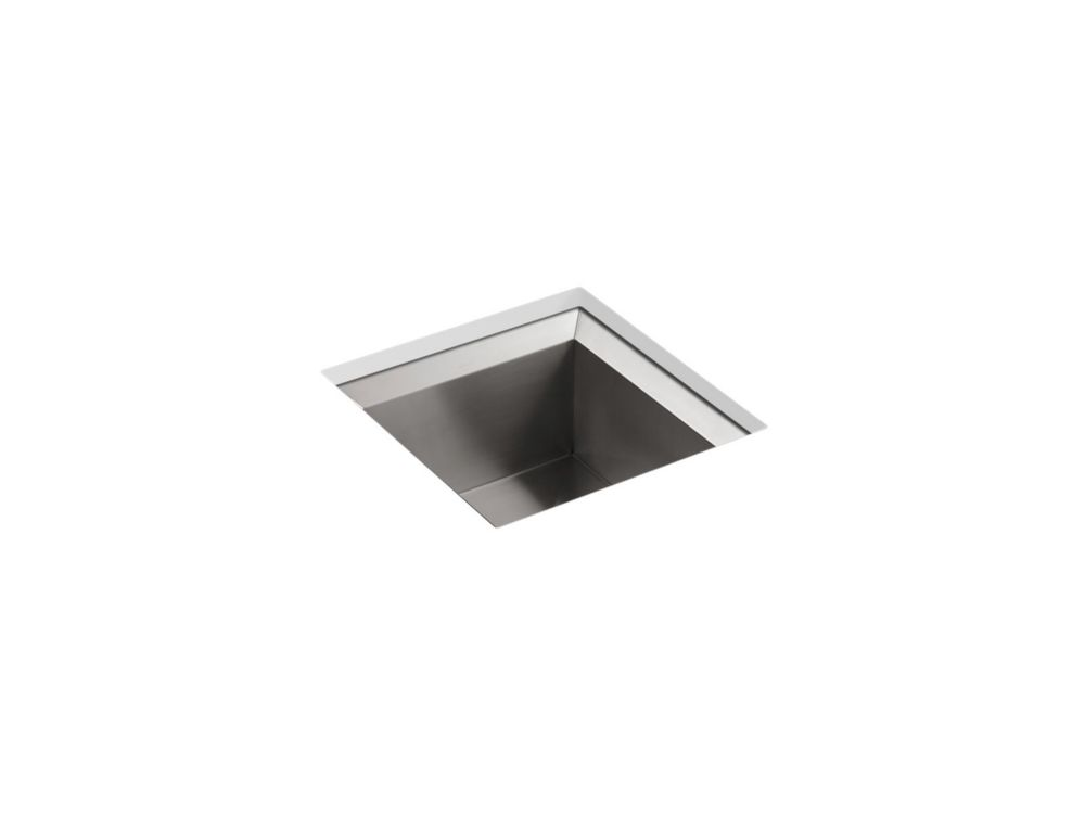 KOHLER Poise Undercounter Stainless Steel 18X18X9.5 0-Hole Single Basin Kitchen Sink