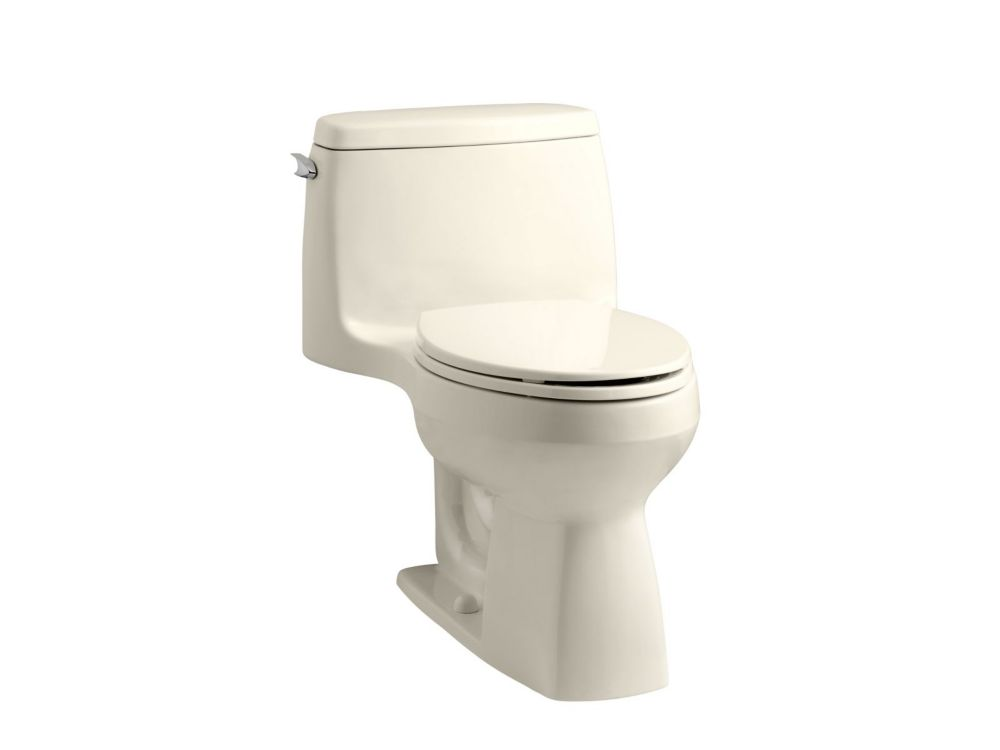 Santa Rosa 1-Piece 1.6 Gpf Compact Elongated Toilet With Aquapiston Flush Technology In Almond