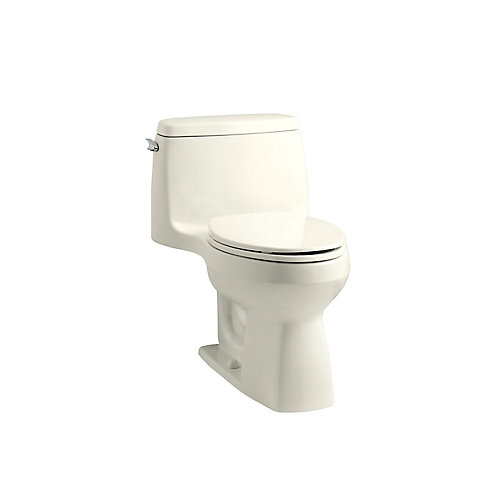 Santa Rosa 1-Piece 1.6 Gpf Compact Elongated Toilet With Aquapiston Flush Technology In Biscuit