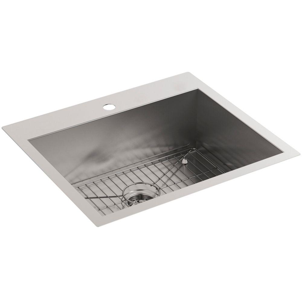 Vault Dual Mount Stainless Steel 25X22X9.3125 1-Hole Kitchen Sink