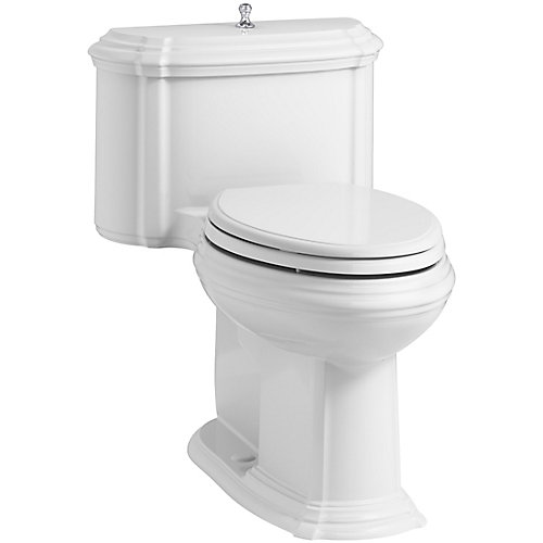 Portrait 1-Piece 1.28 Gpf Elongated Toilet With Aquapiston Flush Technology In White