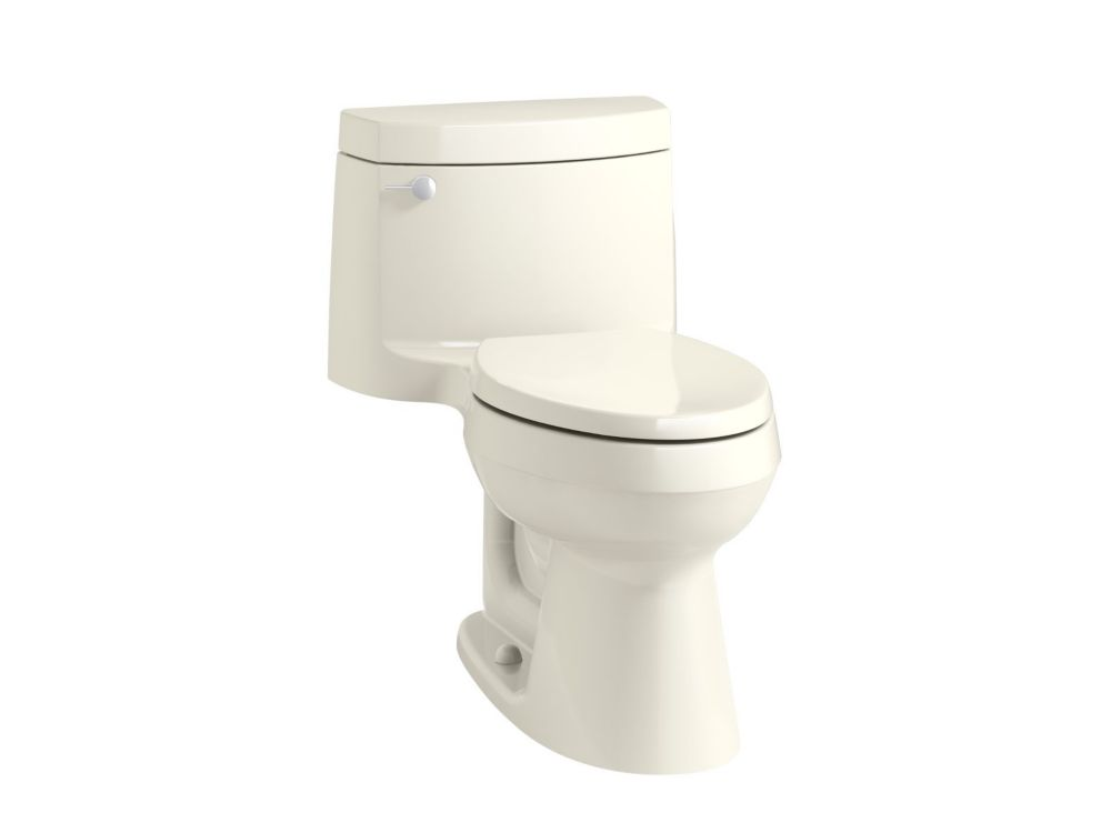 KOHLER Cimarron 1-Piece 1.28 Gpf Elongated Toilet In Biscuit