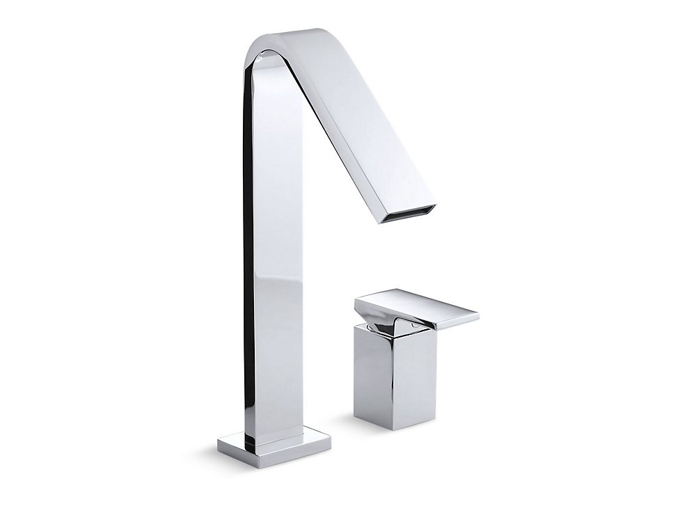 Loure(R) deck-mount high-flow bath faucet