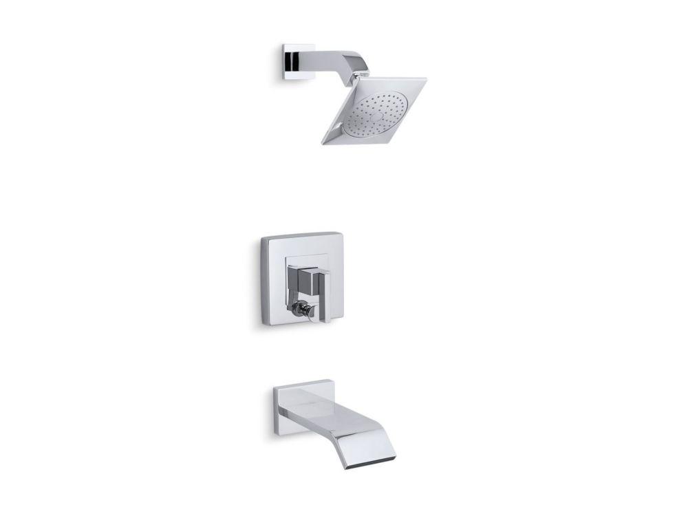 Loure Rite-Temp Bath/Shower Trim Set, Polished Chrome