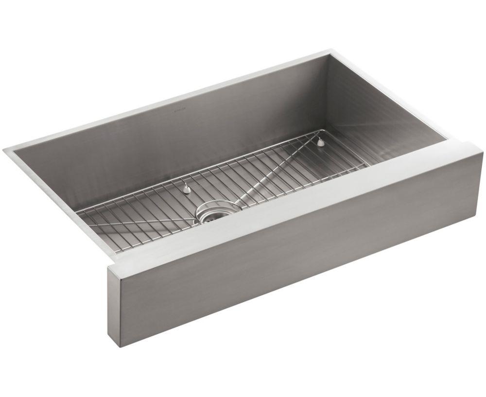 Vault Undercounter Stainless Steel 35.5X21.25X9.313 0-Hole Single Bowl Kitchen Sink