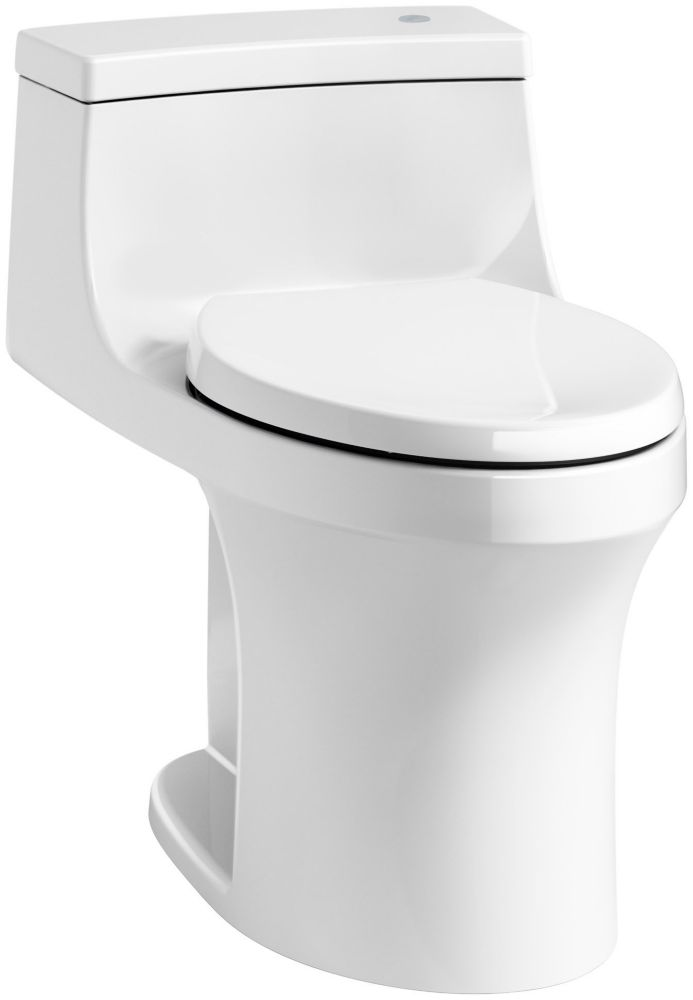 San Souci Touchless Comfort Height 1-Piece 1.28 Gpf Elongated Toilet In White