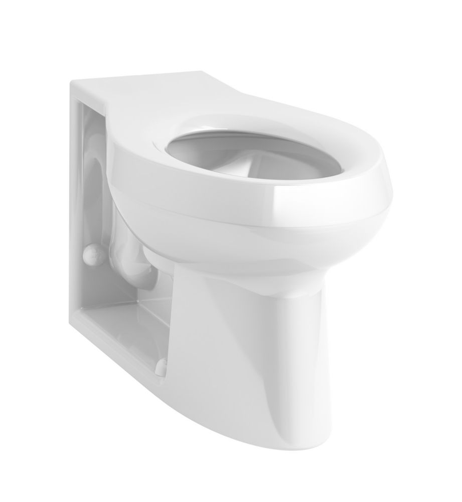 Anglesey Elongated Toilet Bowl Only With Integral Seat In White