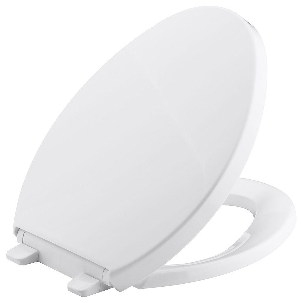 KOHLER Saile Elongated Closed Front Toilet Seat in White
