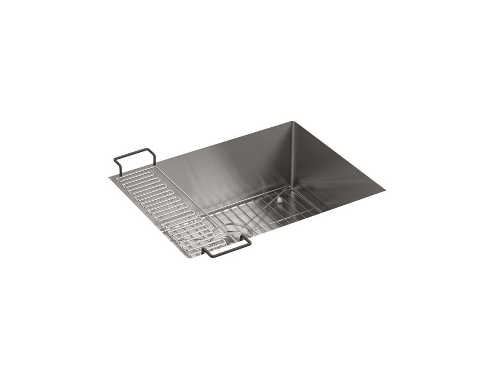 Kindred Stainless Steel Double Kitchen Sink With Faucet