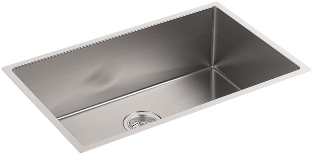 Strive Undermount Stainless Steel 18.3125X29X9.3125 0-Hole Single Bowl Kitchen Sink