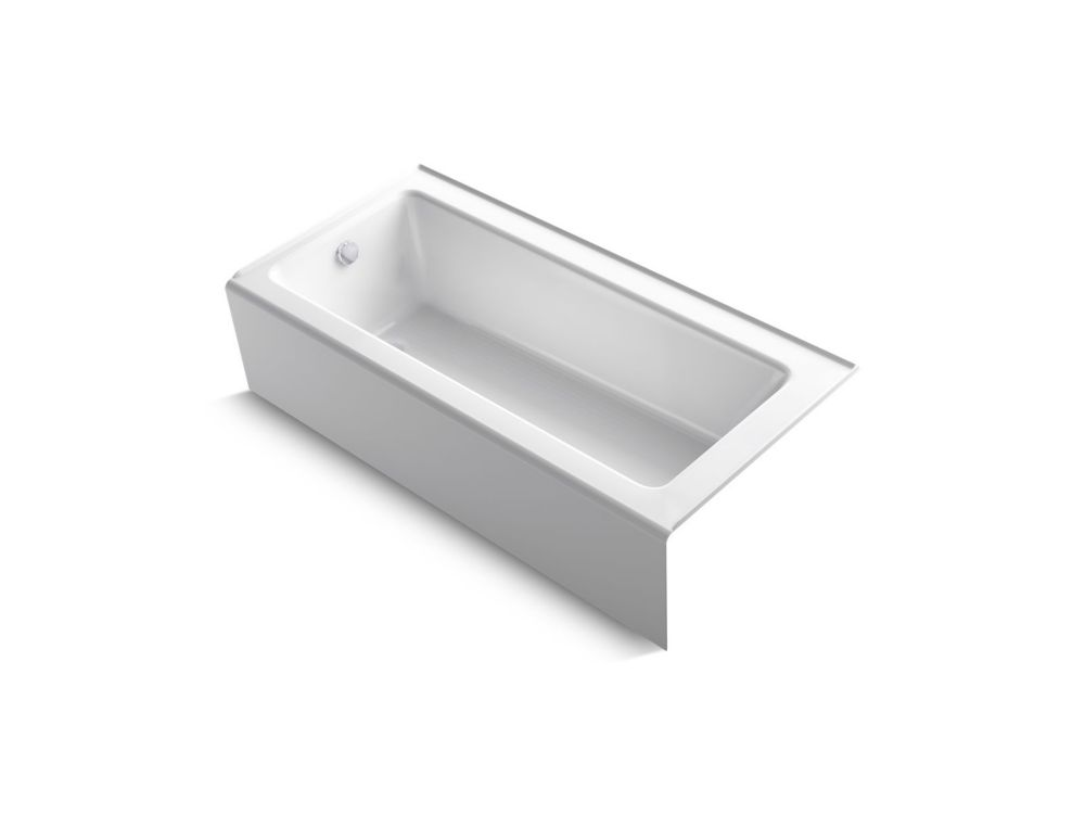 KOHLER Bellweather 66 Inch X 32 Inch Alcove Bath With Integral Apron And Left-Hand Drain, White