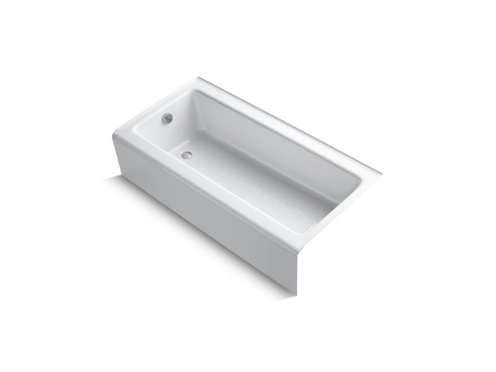 KOHLER Bellwether 60 inch X 30 inch Alcove Bath With Integral Apron And Left-Hand Drain, White