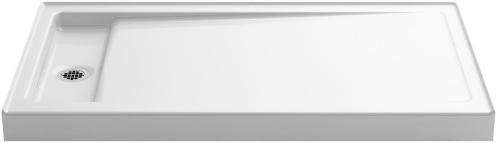 Bellwether 60 inch X 34 inch Single-Threshold Shower Base With Left Center Drain, White