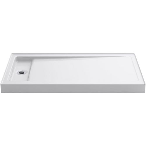 KOHLER Bellwether 60 inch X 32 inch Single-Threshold Shower Base With Left Offset Drain, White