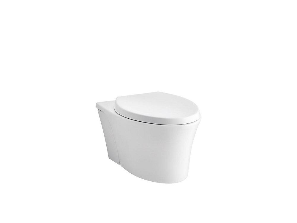 Toilette monopiece allongee Veil a chasse double avec siege Reveal  Quiet-Close, au mur