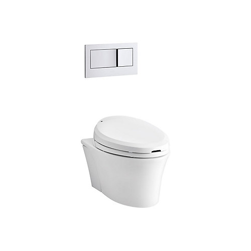 Veil Wall-Hung Elongated Toilet Bowl Only In White
