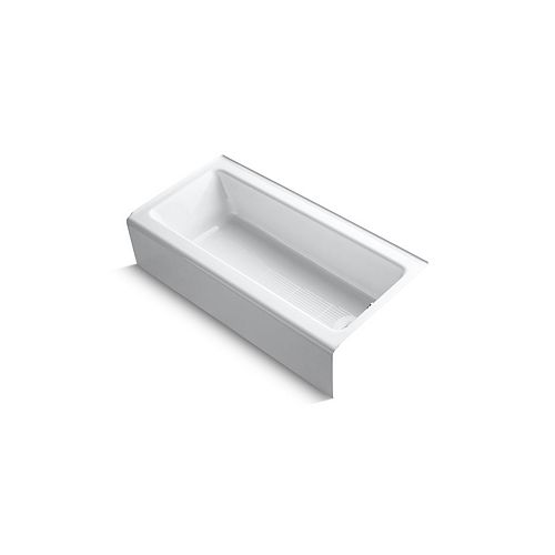 """KOHLER Bellwether(R) 60"""" x 30"""" alcove bath with integral apron and right-hand drain"""